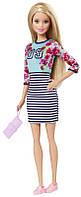 Кукла Барби Модница  - Оригинальна / Barbie Fashionistas Doll Floral Top and Striped Skirt - Original