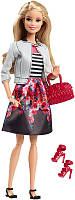 Кукла Барби Стиль 2015 / Barbie Style Doll, White Jacket & Black Floral Print Skirt