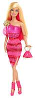 "Кукла Барби ""Модница"" розовая / Barbie Fashionista Barbie Doll - Hot Pink Dress 2013"