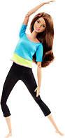 Кукла Барби Подвижная артикуляция 22 точки / Barbie Made to Move Barbie Doll, Blue Top