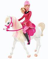 "Кукла Барби серии ""Барби и ее сестры"" с лошадкой / Barbie and Her Sisters in a Pony Tale Train and Ride Horse"