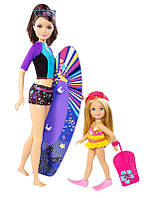 Кукла Барби и сестра Челси /  Barbie Life in the Dreamhouse The Amaze Chase Surfing Skipper and Chelsea Doll (