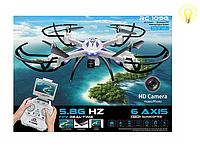 Квадрокоптер RC109F с видеокамерой, радиоуправляемый, оснащен fpv системы 5.8 ГГц. Радиоуправляемые игрушки.