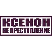 Виниловая наклейка на авто Ксенон не преступление (от 5х20 см)