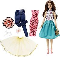 "Набор Барби с куклой ""Модный Калейдоскоп"", брюнетка / Barbie Fashion Mix 'N Match Doll, Brunette"