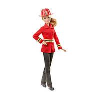"Кукла Барби серии ""Я могу быть"", пожарник / Barbie as Firefighter with Fire Helmet"