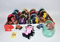 Пластиковые яйца машинка Monster Truck с конфетами 12 штук