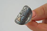 Кольцо серебряное в стиле Бохо шик