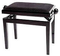Банкетка для піаніно з регульованою висотою, МАТОВИЙ Чорний глянець