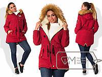 Женская теплая куртка парка. Большие размеры. Разные цвета
