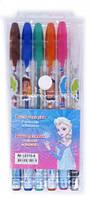 Гелевые ручки 6 цветов Холодное сердце Frozen в блистере (с блестками и запахом)