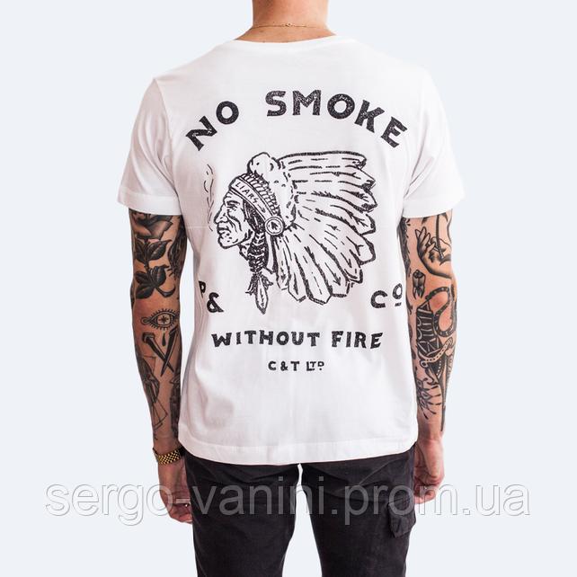 Футболка с принтом P&Co No Smoke мужская