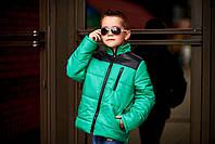 """Зимняя куртка для мальчика из плащевки на синтепоне """"Энтони"""""""