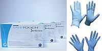"""Перчатки нитриловые смотровые текстурированные нестерильные без пудры """"SafeTouch Slim Blue"""" (XS,S,M,L,XL)"""
