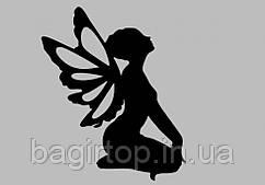 Вінілова наклейка на телефон - Дівчина-ангел
