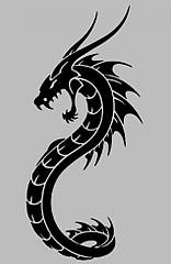 Вінілова наклейка на телефон - Дракон