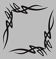 Виниловая интерьерная  наклейка Абстракция на углы (от 10х10 см)