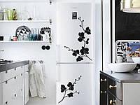 Виниловая наклейка на холодильник - Орхидея  набор(от 40х35 см)