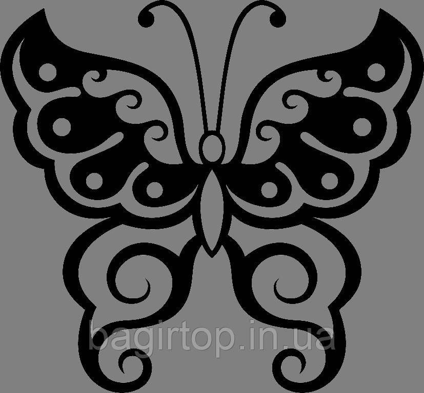 Виниловая интерьерная  наклейка Бабочка 3 (от 15х15 см)