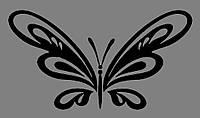 Виниловая интерьерная  наклейка Бабочка 5 ( от 8х15 см)