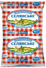 """Молоко ультрапастеризованное, 3,2%, """"СЕЛЯНСЬКЕ"""", 900 г."""