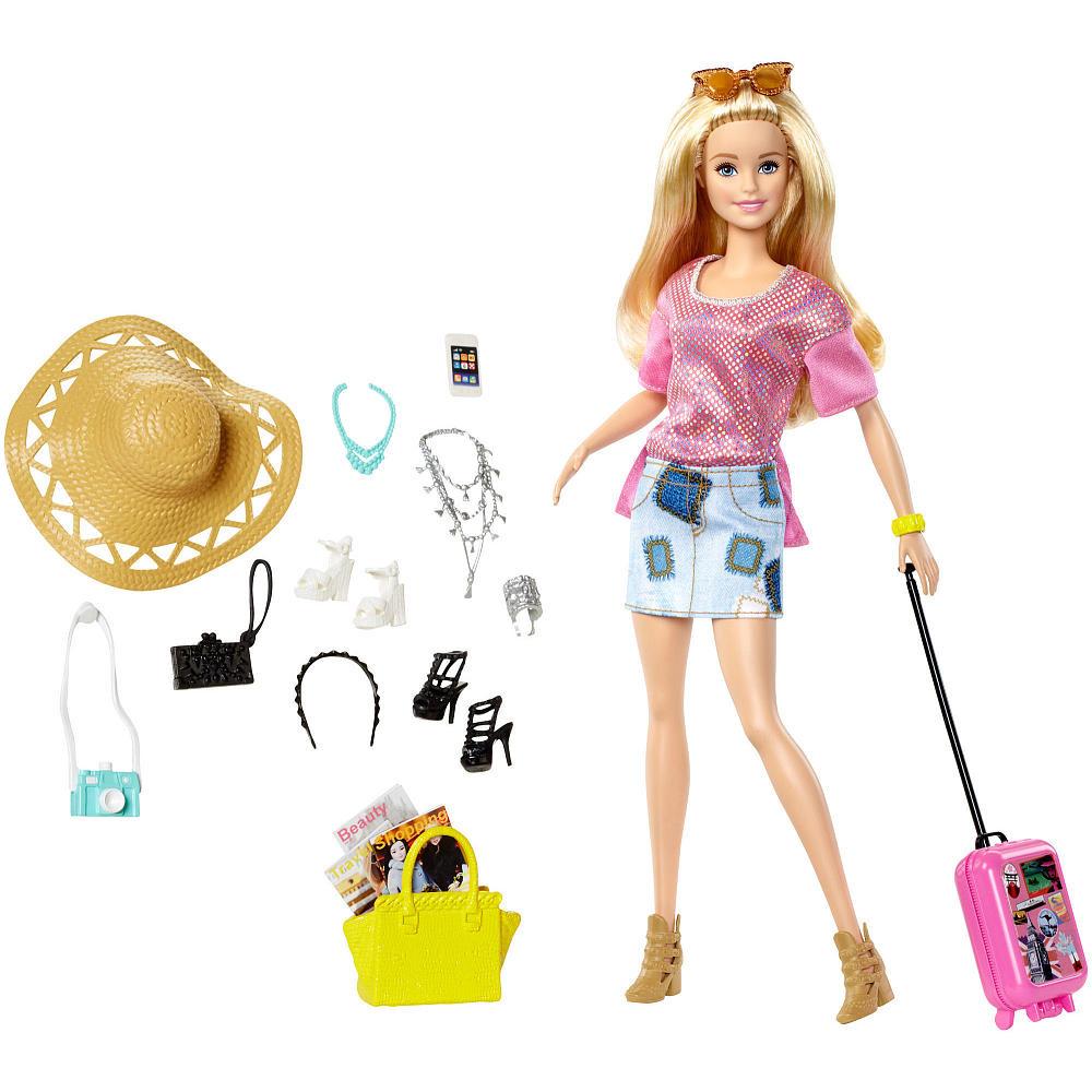 Набор игровой Барби путешественница Barbie Pink Passport Vacation Doll Giftset