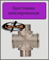 """Крестовина 1/2"""" ВНВН никелированная"""
