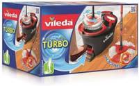 Комплект для уборки: швабра с телескопической рукояткой и ведро с механическим отжимом EasyWring & Clean Turbo