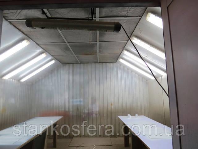 Покрасочная камера бу с приточной вентиляцией для мебельных фасадов и деталей 4*4 м
