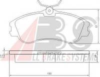 Тормозные колодки дисковые передние A.b.s. на Peugeot Partner