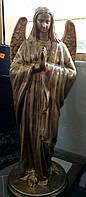 Статуи ангелов на кладбище. Ангел из полимера 1  м бронзовый