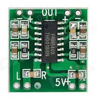 Схема усилителя PAM8403 amplifier