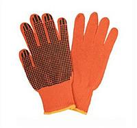 Оранжевые перчатки с ПВХ