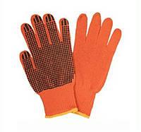 Оранжевые перчатки с ПВХ, фото 2