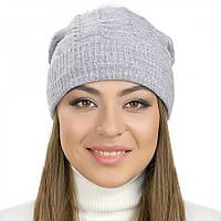 """Женская шапка Visse """"Алиста"""" серая"""
