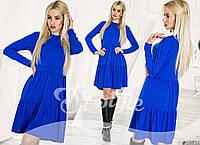 Платье трикотажное приталенного силуэта однотонное