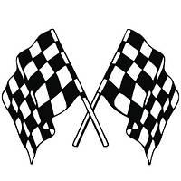 Виниловая наклейка на авто (флаг) (от 15х20 см)