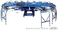 Полуавтоматическая карусель для печати по текстилю и крою M&R Challenger II и IIOS
