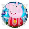 Воздушный фольгированный шарик Свинка Пеппа, 44 см