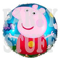 Воздушный фольгированный шарик Свинка Пеппа, 45 см