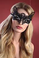 Черная эротическая маска Модель №6 от Livia Corsetti (Польша) Шикарное качество!