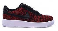"""Кроссовки Nike Air Force 1 Low Ultra Flyknit """"University Red Black"""" - """"Красные Черные"""""""
