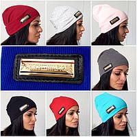 Стильная женская шапка в разных цветах п-50720