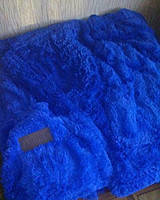 Покрывало Мишка двуспальный евро синий