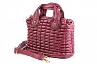 Мини-сумочка стеганная в стиле Chanel бордовая