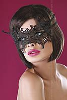 Красивая кружевная маска Модель №11 от Livia Corsetti (Польша) Цвет черный