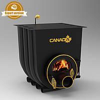 """Булерьян канадская печь CANADA с варочной поверхностью """"00"""" 130 м3 (стекло или защитный декор кожух)"""