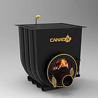 """Булерьян канадская печь CANADA с варочной поверхностью """"02"""" 525 м3 (стекло или защитный декор кожух)"""
