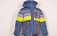 Куртка зимняя для мальчика с плащевки (цв.синий/красный) NOVA CLUB Роста в наличии : 80,86,92,98,104 арт.1190
