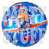 Фольгированный воздушный шарик Летачки, синий, 44 см
